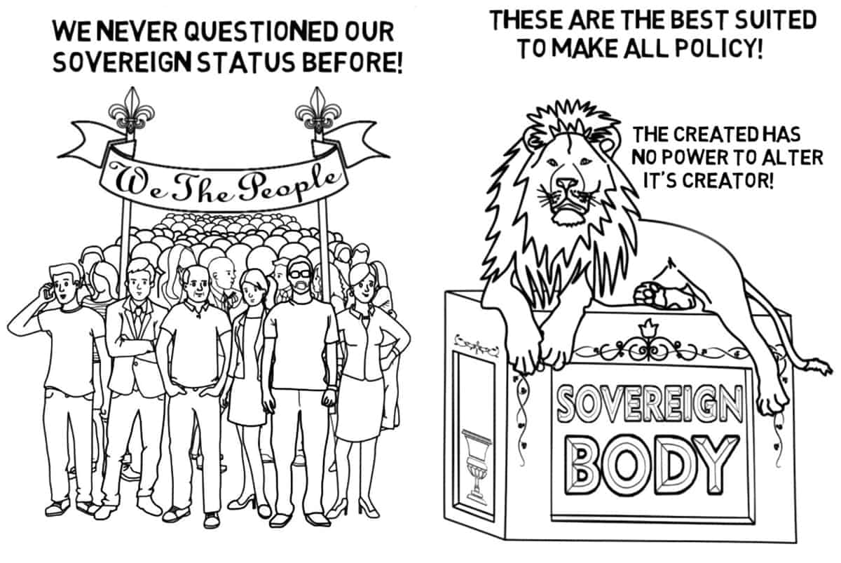 We-The-People are a sovereign-body and above the constitution